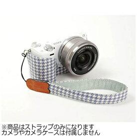 mi81 エムアイ81 ミラーレス&コンパクトカメラ用リストストラップ MH001PC 千鳥柄ブルー
