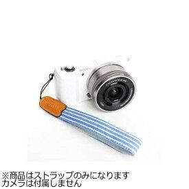 mi81 エムアイ81 ミラーレス&コンパクトカメラ用リストストラップ MH003SS ブルーストライプ