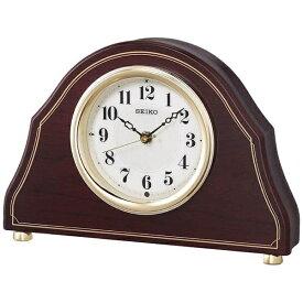 セイコー SEIKO 置き時計 【スタンダード】 濃茶木地 BZ239B [電波自動受信機能有]