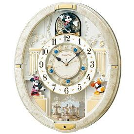 セイコー SEIKO からくり時計 【Disney Time(ディズニータイム)ミッキー&フレンズ】 白マーブル模様 FW580W [電波自動受信機能有][FW580W]