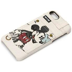 PGA iPhone 7用 ディズニー ハードケース ポケット付き アイボリー / ミッキーマウス PG-DCS169MKY