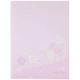 チクマ Chikuma フォトマウントカード 2L縦 フラワー ピンク