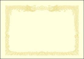 ササガワ SASAGAWA 厚口OA賞状用紙 B4判縦書用100 クリーム 10-1377