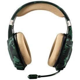 トラスト TRUST 20865 有線ゲーミングヘッドセット GXT 322C Carus Green [φ3.5mmミニプラグ /両耳 /ヘッドバンドタイプ][20865]