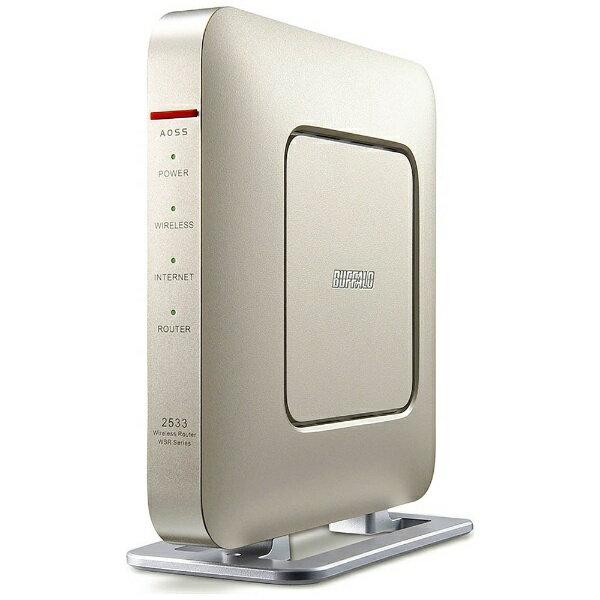 【送料無料】 BUFFALO 無線LANルータ 親機単体 Wi-Fi[無線ac/a/n/g/b・有線LAN/WAN・Android/iOS/Mac/Win] 1733+800Mbpsルータ エアステーション (シャンパンゴールド) WSR-2533DHP-CG[WSR2533DHPCG]