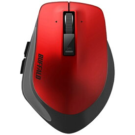 BUFFALO バッファロー BSMBW500MRD マウス BSMBW500Mシリーズ レッド [BlueLED /5ボタン /USB /無線(ワイヤレス)][BSMBW500MRD]