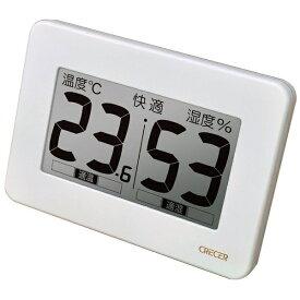 CRECER クレセル CR-3000W 温湿度計 ホワイト [デジタル][CR3000W]