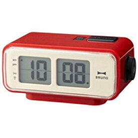 イデアインターナショナル IDEA INTERNATIONAL LCDレトロアラームクロック S BRUNO(ブルーノ) レッド BCR003-RD [デジタル /電波自動受信機能有][BCR003RD]