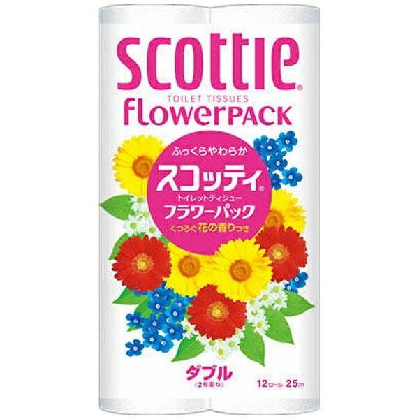 日本製紙クレシア crecia スコッティファインフラワー12Rダブル