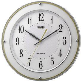 リズム時計 RHYTHM 掛け時計 【ミレディサヤカ】 白 8MY510SR03 [電波自動受信機能有]
