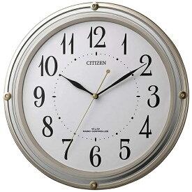 シチズン CITIZEN 掛け時計 ゴールドメタリック 8MY516-018 [電波自動受信機能有]