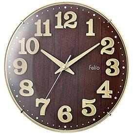 ノア精密 NOA ウッド調デザイン時計 ブリュレ アイボリー FEW181IV-Z