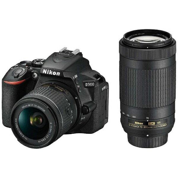 【送料無料】 ニコン D5600【ダブルズームキット】/デジタル一眼レフカメラ