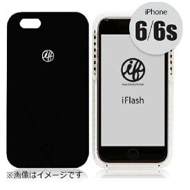 OGBINTERNATIONAL オージービーインターナショナル iPhone 6s/6用 iFlash セルフィーライト付きスマホケース ブラック IFLASHBK