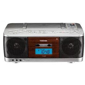 東芝 TOSHIBA TY-CDK9 ラジカセ シルバー [ワイドFM対応 /CDラジカセ][TYCDK9S]