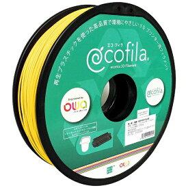 エコリカ ecorica 【互換】パーソナル3Dプリンター Value3D MagiX MFシリーズ用 リサイクルフィラメント(1.75mm・黄色) ECF-PS175-YE
