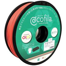 エコリカ ecorica 【互換】パーソナル3Dプリンター Value3D MagiX MFシリーズ用 リサイクルフィラメント(1.75mm・赤) ECF-PS175-RE