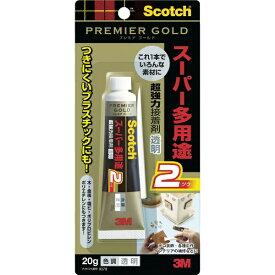 3Mジャパン スリーエムジャパン 3M 超強力接着剤 プレミアゴールド スーパー多用途2 透明 20g 9078
