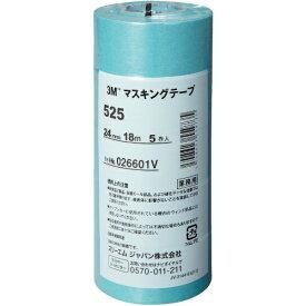 3Mジャパン スリーエムジャパン 3M マスキングテープ 525 24mmX18m 5巻入り 525 24