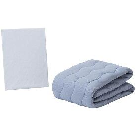 フランスベッド FRANCEBED 【ベッドパッド/ボックスシーツ】クラウディアベッドパッド&マットレスカバー(シングルサイズ/97×195cm/ブルー)フランスベッド