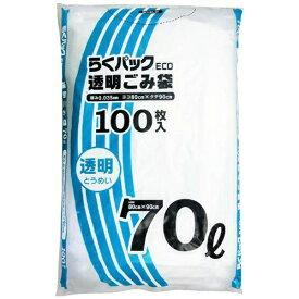 日本技研工業 NIPPON GIKEN INDUSTRIAL PS-71TらくパックECO透明70L100枚