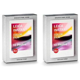 ライカ Leica フィルム  colour film pack(2 pieces) ダブルパック Leica SOFORT(ゾフォート)用 19553 [10枚 /2パック]