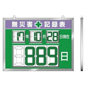 ユニット UNIT ユニット デジタル数字型無災害記録表 454×604×14厚 867-19《※画像はイメージです。実際の商品とは異なります》