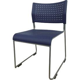 アイリスチトセ IRIS CHITOSE アイリスチトセ ミーティングチェア 背・座樹脂 ブルー ASL-110PP-BL
