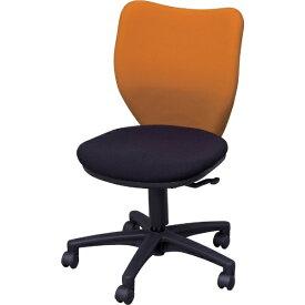 アイリスチトセ IRIS CHITOSE アイリスチトセ オフィスチェア ミドルバックタイプ オレンジ・ブラック BIT-BX45-L0-F-OGBK