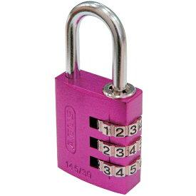 アバス ABUS ABUS ナンバー可変式南京錠 145−30 ピンク 145-30-PI