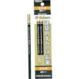 TJMデザイン タジマ 建築用すみつけ鉛筆 かため(2H)6本入 KNE6-2H