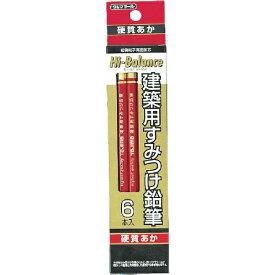 TJMデザイン タジマ 建築用すみつけ鉛筆 硬質あか6本入 KNE6-RH