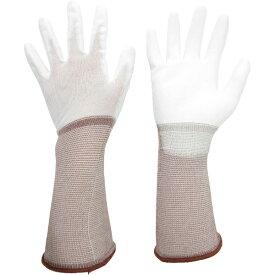 ミドリ安全 MIDORI ANZEN ミドリ安全 低発塵手袋 ロング (手のひらコート)10双入 SS MCG-500N-LONG-SS