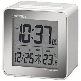 リズム時計 RHYTHM 目覚まし時計 【フィットウェーブD158】 白 8RZ158SR03 [デジタル /電波自動受信機能有]