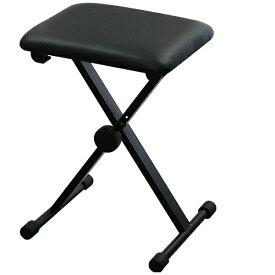 KIKUTANI キーボードベンチ ピアノイス X型(ブラック) KB-60[ピアノ 椅子 KB60]