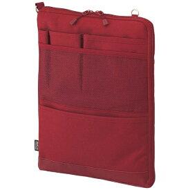 リヒトラブ LIHIT LAB. タブレットPC対応[〜12インチ] バッグインバッグ タテ型 A4サイズ SMART FIT ACTACT A-7683-3 レッド