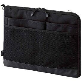 リヒトラブ LIHIT LAB. タブレットPC対応[〜12インチ] バッグインバッグ ヨコ型 A4サイズ SMART FIT ACTACT A-7681-24 ブラック