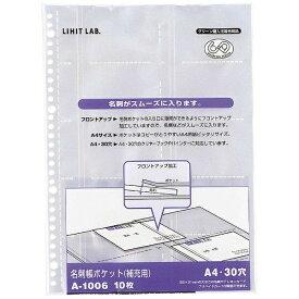 リヒトラブ LIHIT LAB. 名刺帳ポケット A4S A1006
