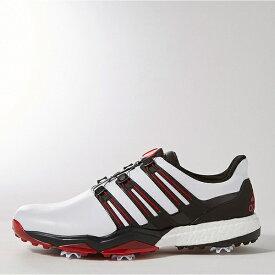 アディダス adidas 25.5cm メンズ ゴルフシューズ powerband Boa boost(ホワイト×コアブラック×スカーレット) Q44870