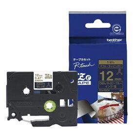 ブラザー brother 【ブラザー純正】ピータッチ リボンテープ TZe-RN34 幅12mm (金文字/ネイビーブルー) TZe TAPE ネイビーブルー TZe-RN34 [金文字 /12mm幅]