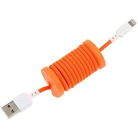 イツワ商事 ITSUWA SHOJI [ライトニング] ケーブル 充電・転送 (1m・オレンジ)MFi認証 PH004OR [1.0m]