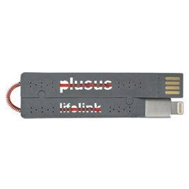 日本ポステック JPT [ライトニング] ケーブル 充電・転送 (カードサイズ・グレー)MFi認証 LIFELINK ライトニング