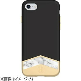 FOX iPhone 7用 2-PC SLIDER CASE WITH MARBLE INLAY ブラック/ホワイトマーブル House of Harlow 1960