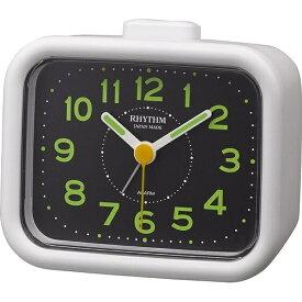 リズム時計 RHYTHM 目覚まし時計 ジャプレクラフト 白(黒) 4RA481SR03 [アナログ]