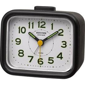 リズム時計 RHYTHM 目覚まし時計 ジャプレクラフト 黒(白) 4RA481SR02 [アナログ]