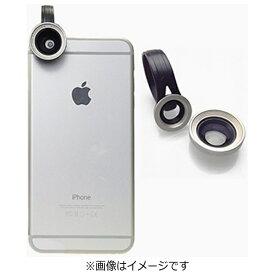 ポラロイド Polaroid クリップ式スマホレンズ Polalens(ポラレンズ) CW67 シルバー(接写・ワイド130°の2種レンズセット)[CW67SL]