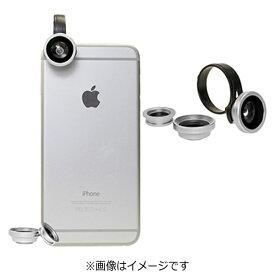 ポラロイド Polaroid クリップ式スマホレンズ Polalens(ポラレンズ) CL3 シルバー(接写・ワイド130°・フィッシュアイ180°の3種レンズセット)[CL3SL]