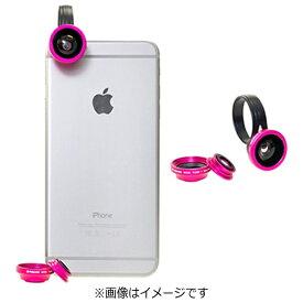 ポラロイド Polaroid クリップ式スマホレンズ Polalens(ポラレンズ) CL3 ピンク(接写・ワイド130°・フィッシュアイ180°の3種レンズセット)[CL3PK]