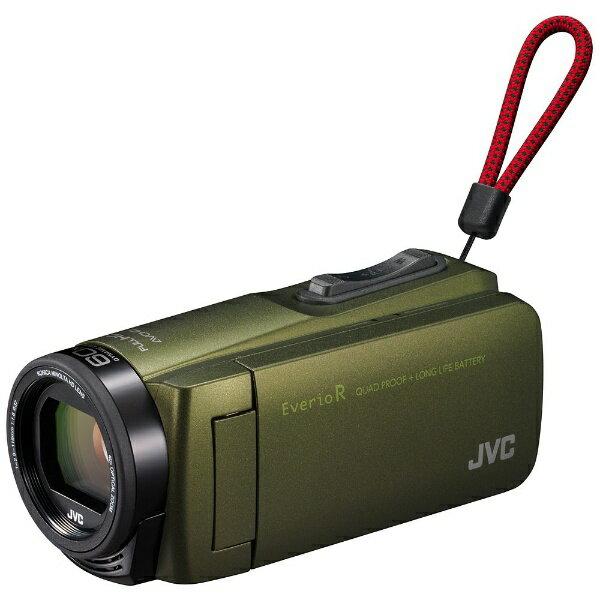 【送料無料】 JVC SD対応 32GBメモリー内蔵 防水・防塵・耐衝撃フルハイビジョンビデオカメラ(カーキ) GZ-R470-G[生産完了品 在庫限り][GZR470]