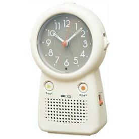 セイコー SEIKO 録音再生機能つき目覚まし時計 アイボリー EF506C [アナログ]
